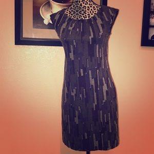 Banana Republic Geometric Sheath Dress Size 2